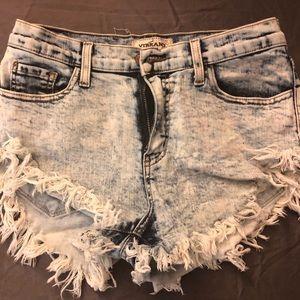 Acid wash Distressed Jean Shorts